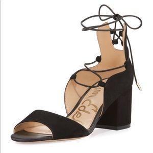 Sam Edelman Serene Suede Lace-Up Sandal, Sz 6.5